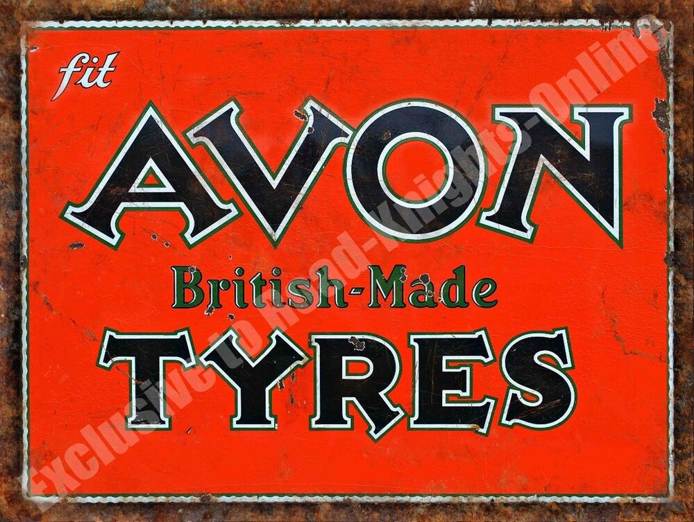 Car Old Garage Signs : Vintage garage avon tyres british motorsport old car