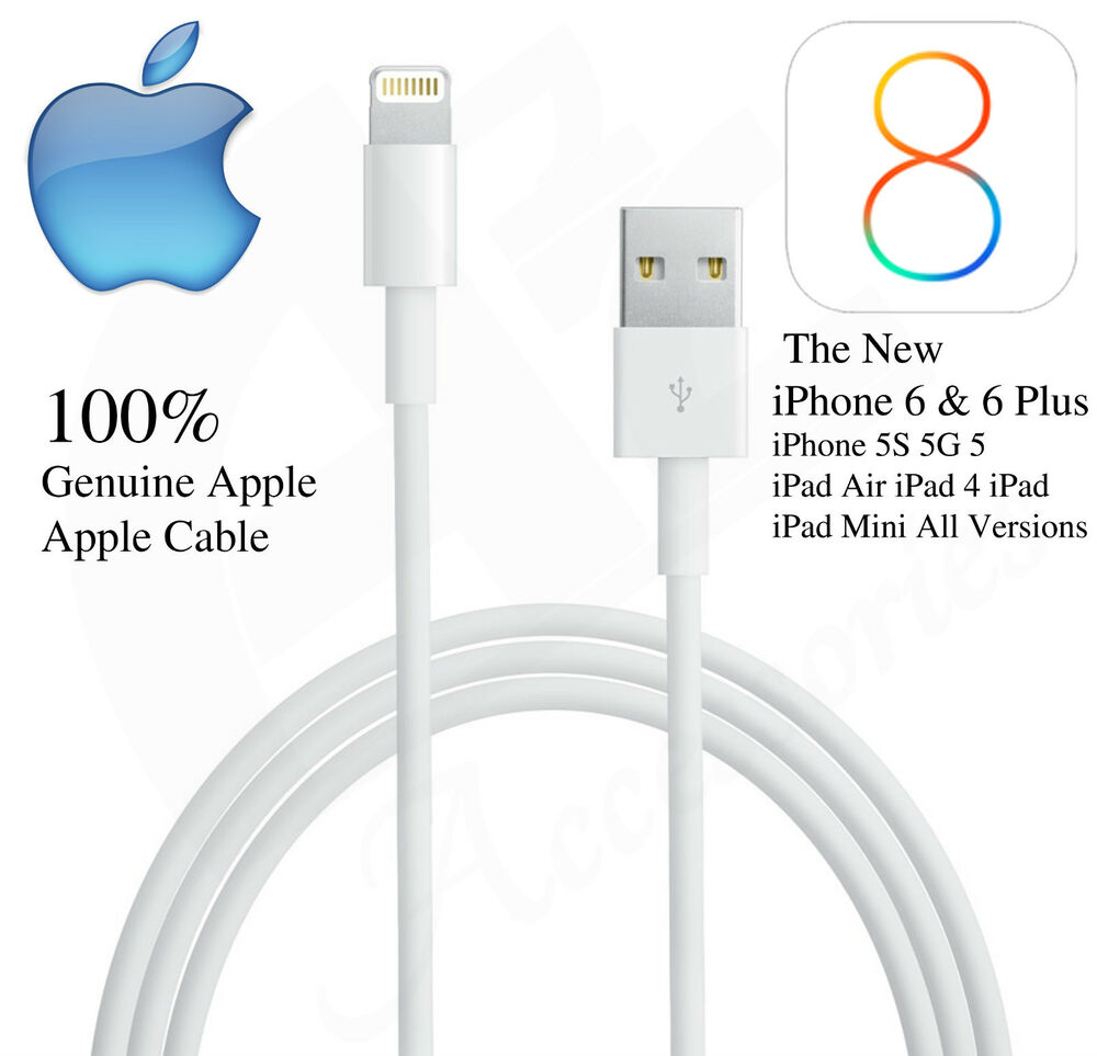 apple iphone 6 charger cable 100 genuine apple lightning sync charger usb data cable 9667