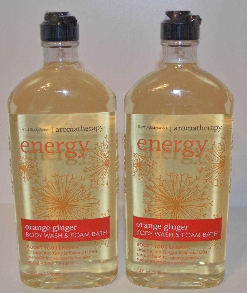 2 Bath Body Works Aromatherapy Energy Orange Ginger Wash