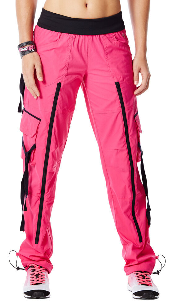 Authentic New Zumba Craveworthy Zip Cargo Pants - Pink ~ XS, M, XL ...