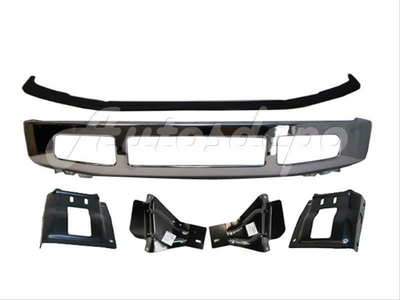 2008 2010 ford f250 f350 front bumper chrome up pad mounting plate bracket 6pcs ebay. Black Bedroom Furniture Sets. Home Design Ideas