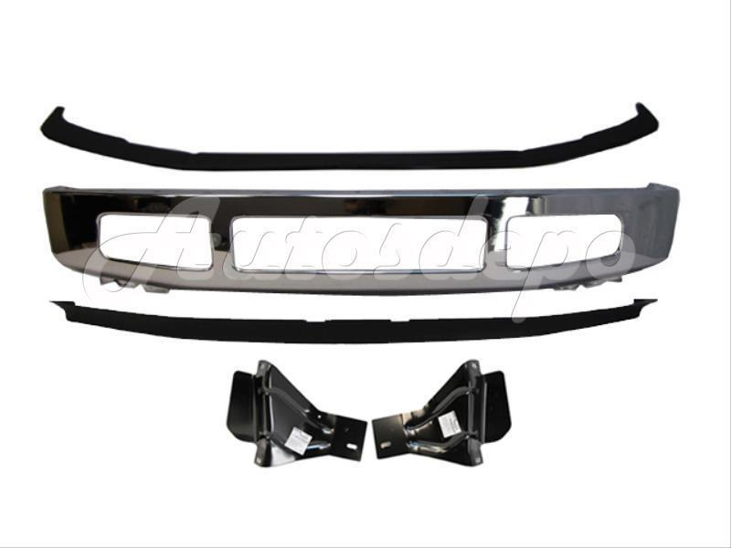 2008 2010 ford f250 f350 2wd front bumper chrome up pad spoiler bracket 5pcs ebay. Black Bedroom Furniture Sets. Home Design Ideas