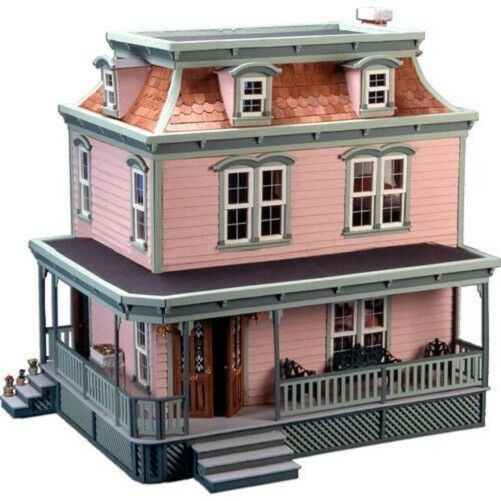 Greenleaf wooden dollhouse kit the lily doll house hobby for Victorian style kit homes