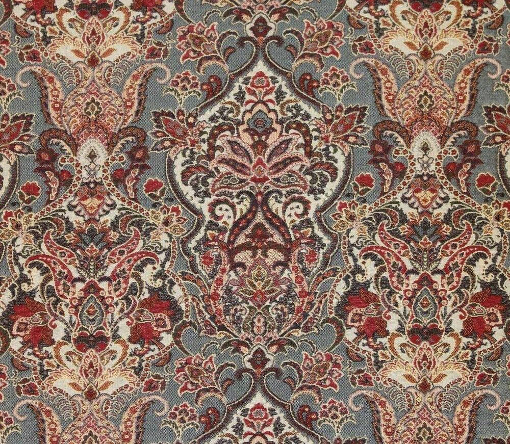 Upholstery 54 wide duchess navy damask jacquard drapery for By the yard fabric