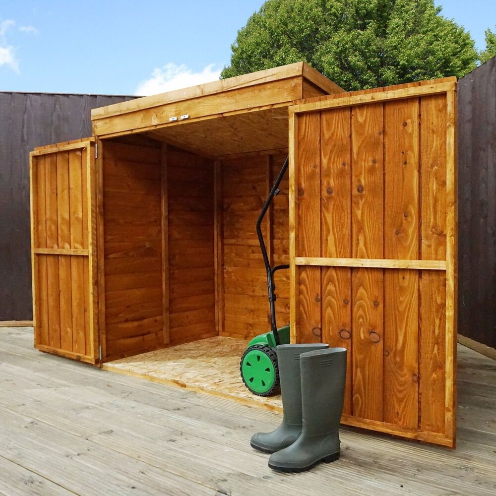 Wooden garden storage shed 5ft x 3ft tool lawn mower toy for Outdoor wood shed