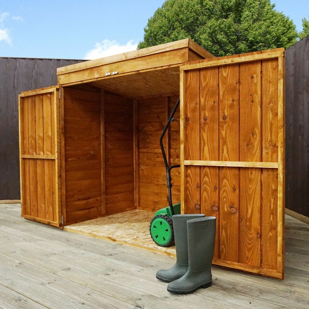 Wooden garden storage shed 5ft x 3ft tool lawn mower toy for Outdoor tool shed