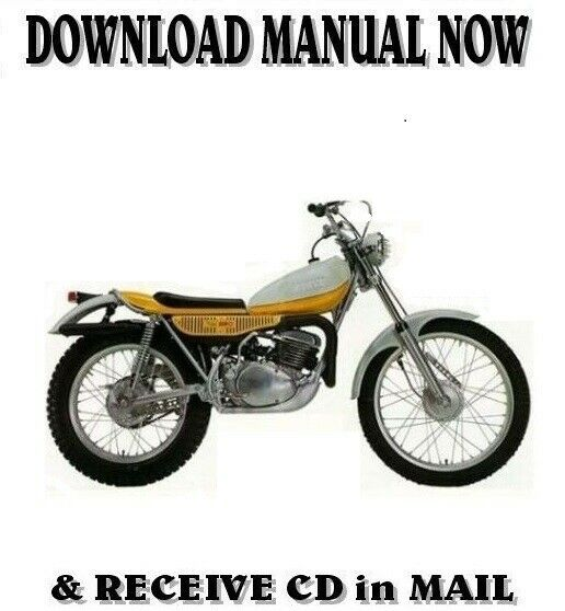 1974 yamaha ty250a trials factory owner service repair. Black Bedroom Furniture Sets. Home Design Ideas