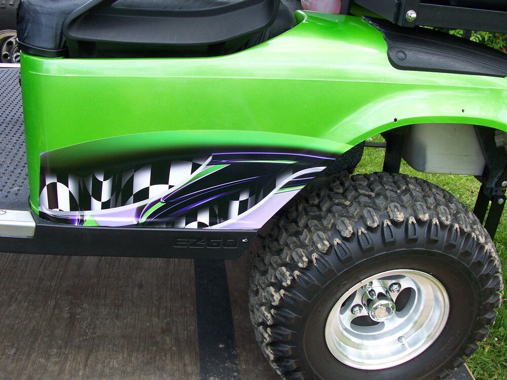 Small Adrenalin Rush Golf Cart Side Graphics Decal Decals
