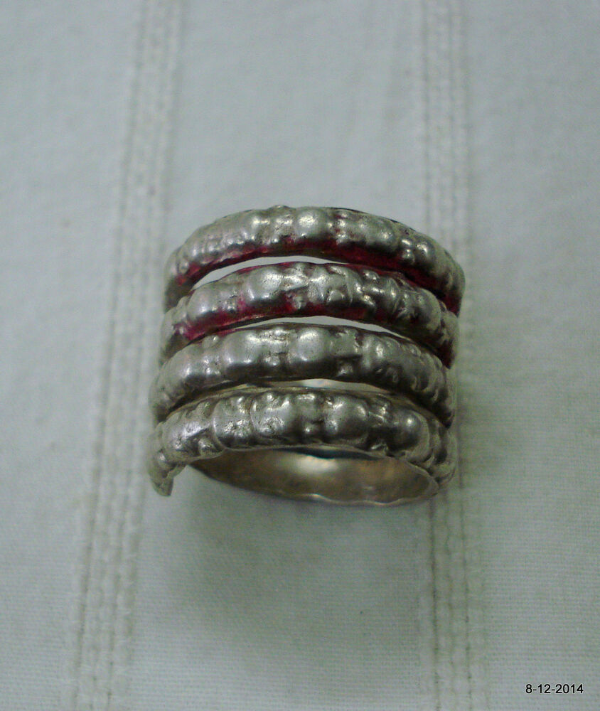 vintage antique ethnic tribal silver ring belly