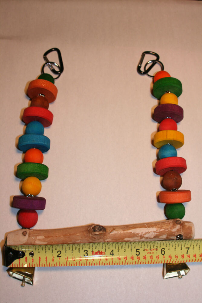 Small Toy Parrots : Jk parrot toy small hanging swing for birds ebay