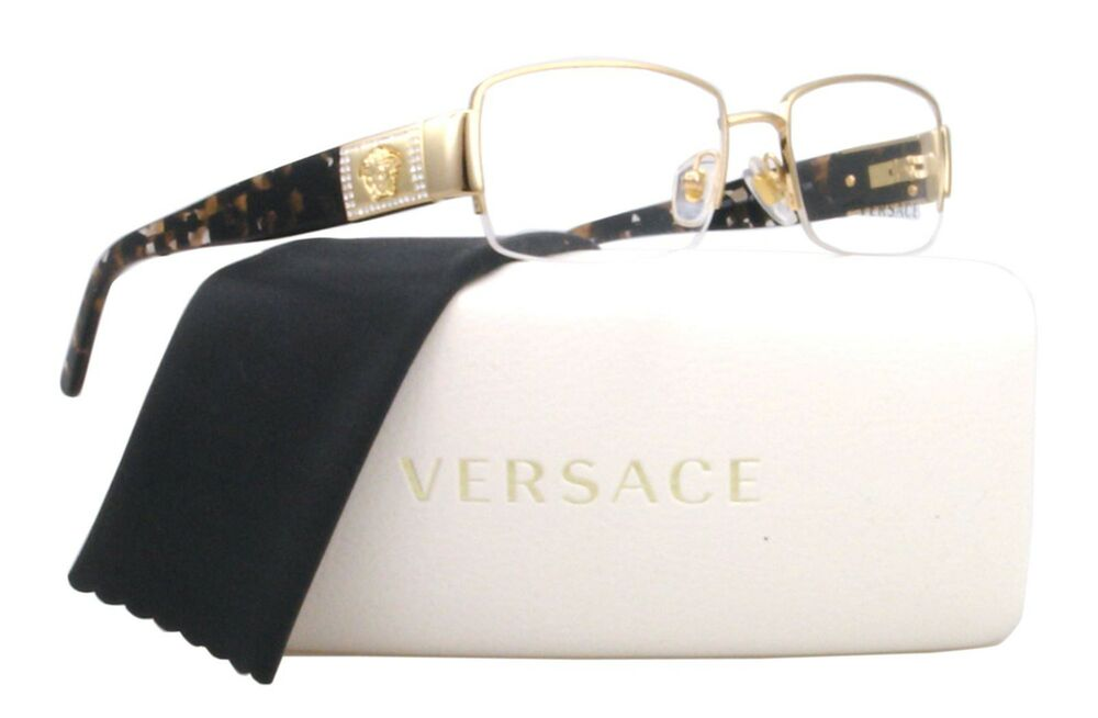 new authentic versace ve1175b 1002 gold eyeglass frame sizes 51 53mm