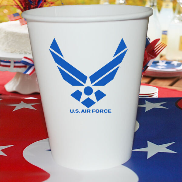 Us air force party supplies hot cold paper cups ebay for Air force decoration writing