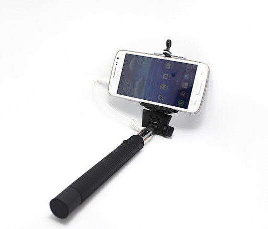 selfie stick monopod handheld wired easy connect for iphone android extenda. Black Bedroom Furniture Sets. Home Design Ideas