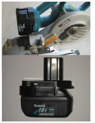 makita miter saw only 18v battery adapter lithium lxt. Black Bedroom Furniture Sets. Home Design Ideas