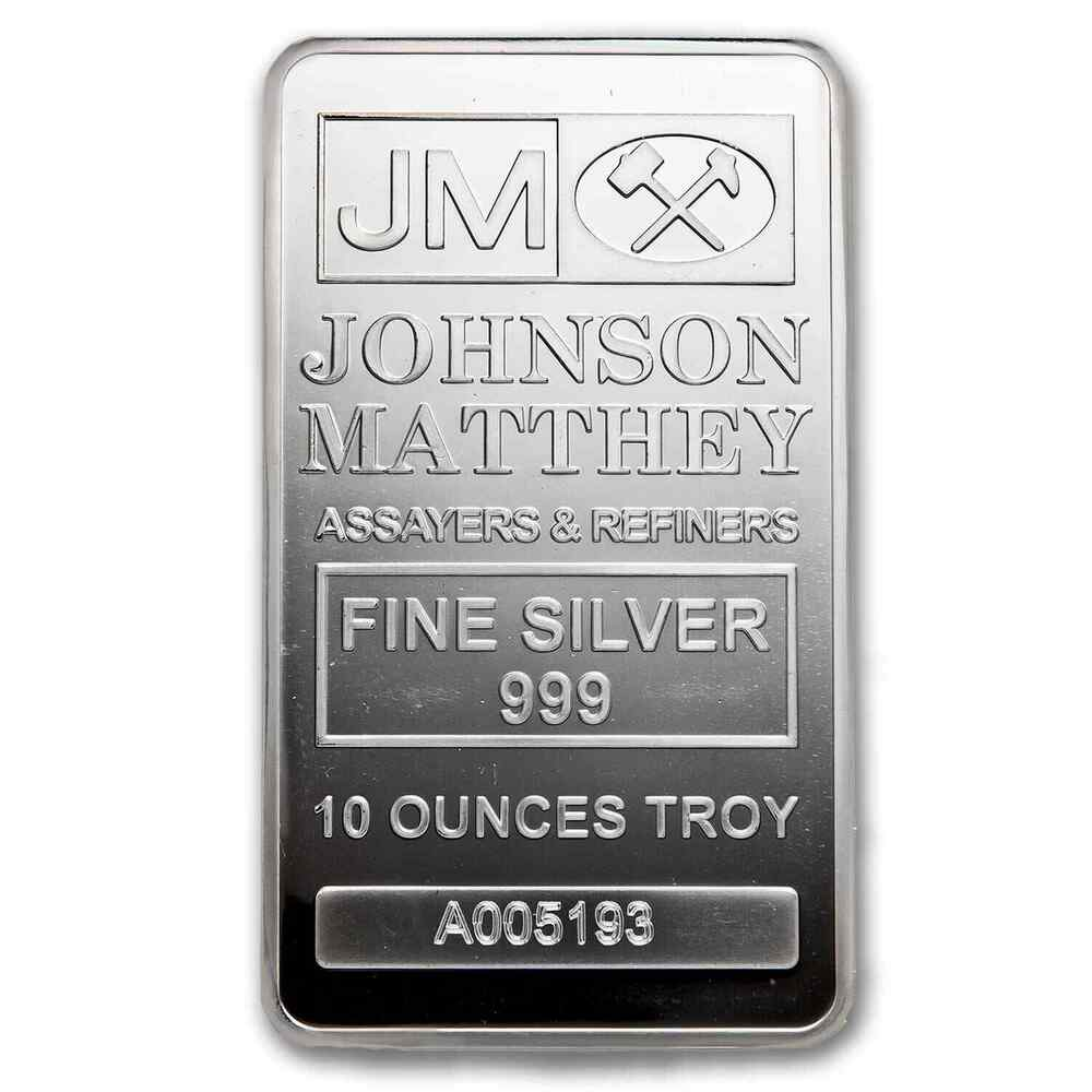 10 Oz Silver Bar Johnson Matthey Sku 82900 Ebay