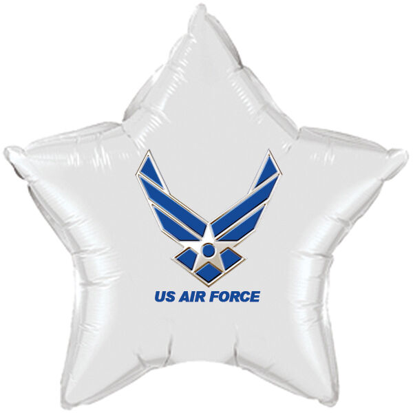 Us air force party supplies white star balloon ebay for Air force decoration writing