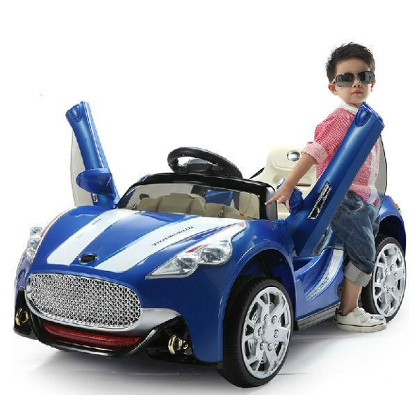 maserati style 12v kids ride on car battery power wheels remote control blue ebay. Black Bedroom Furniture Sets. Home Design Ideas