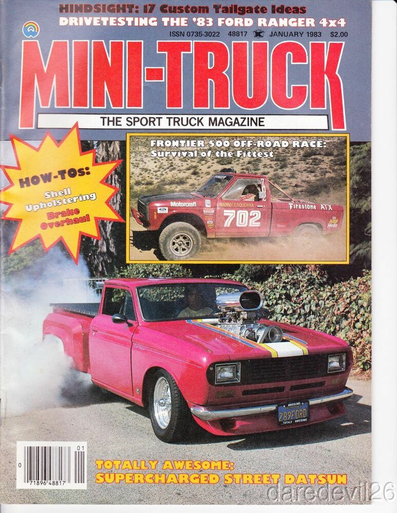 jan 1983 mini truck magazine frontier 500 off road 39 83 ford ranger road test ebay. Black Bedroom Furniture Sets. Home Design Ideas