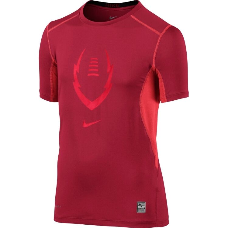 7ac1f7ce2f8b Details about Nike Boys Dri Fit Pro Combat Hypercool Fitted Shirt Save 35%  Football Soccer