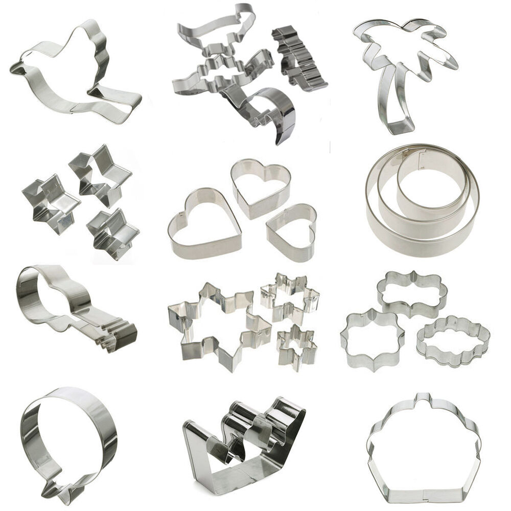 Stainless Steel Cookie Cutter Mold Fondant Biscuit Pastry
