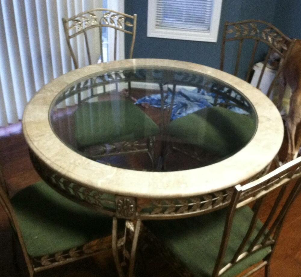 Marble Kitchen Table And 4 Chairs Ebay