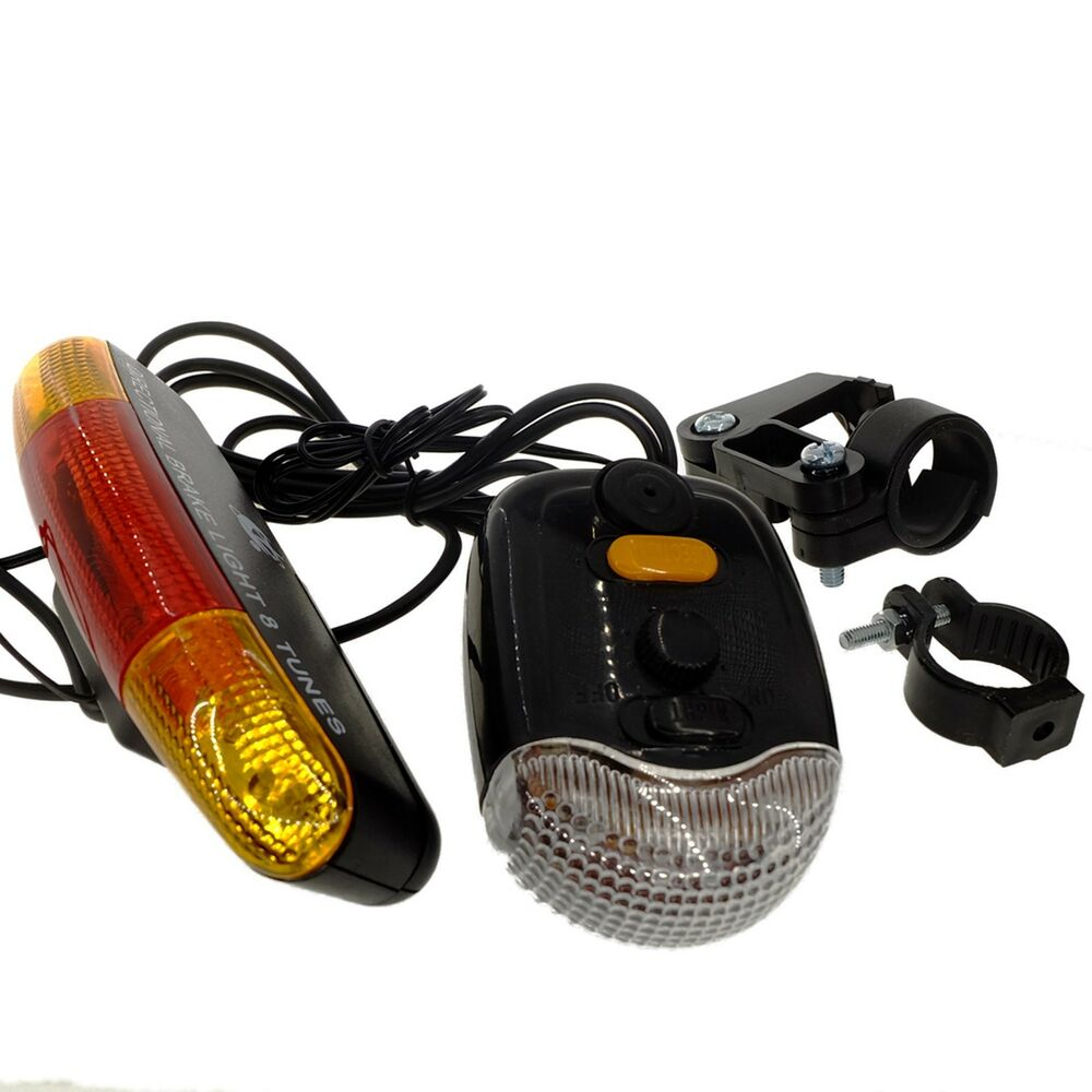 Bike Bicycle 8 Tune Horn + Direction Turn Signal Safety ...