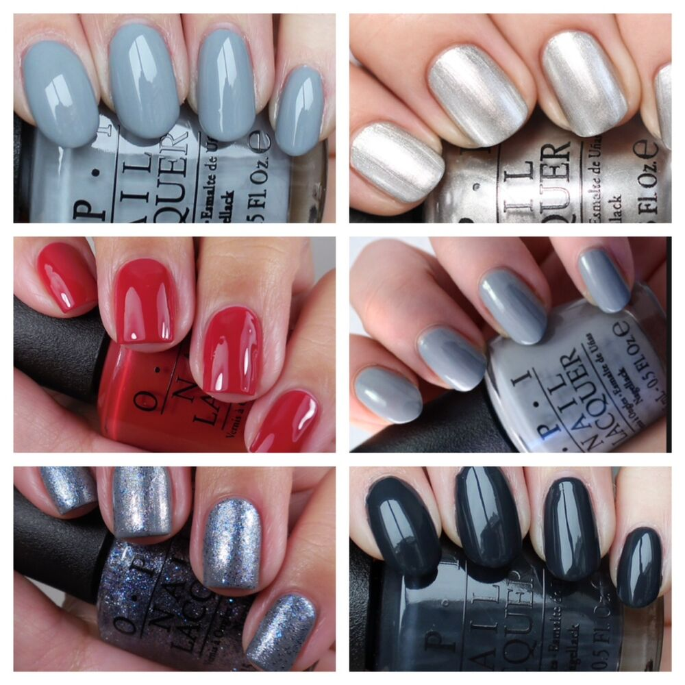 Opi Nail Varnish 50 Shades Of Grey Collection Mini Full Size 15ml Lacquer Ebay