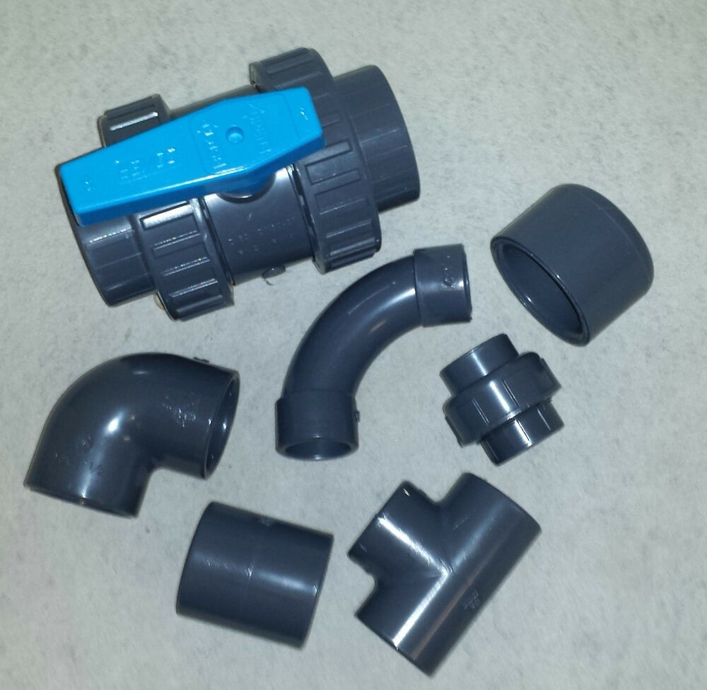 Pvc solvent weld pipe fittings quot to pond