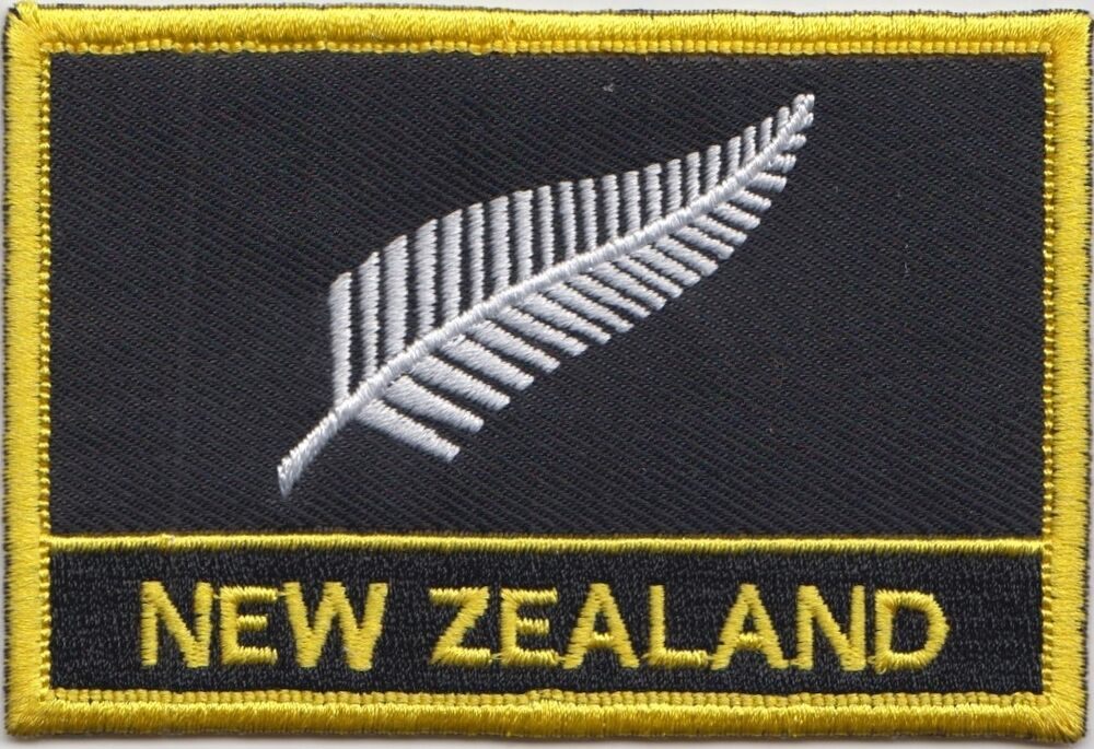 New Zealand Silver Fern Flag Embroidered Patch Badge  Sew