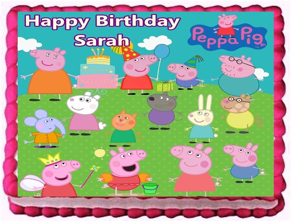 Edible Cake Decorations Woolworths : PEPPA PIG EDIBLE CAKE TOPPER BIRTHDAY DECORATIONS eBay