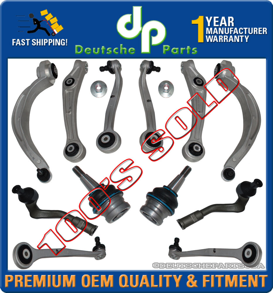 Front Upper Lower Control Arms Ball Joints For Audi A5