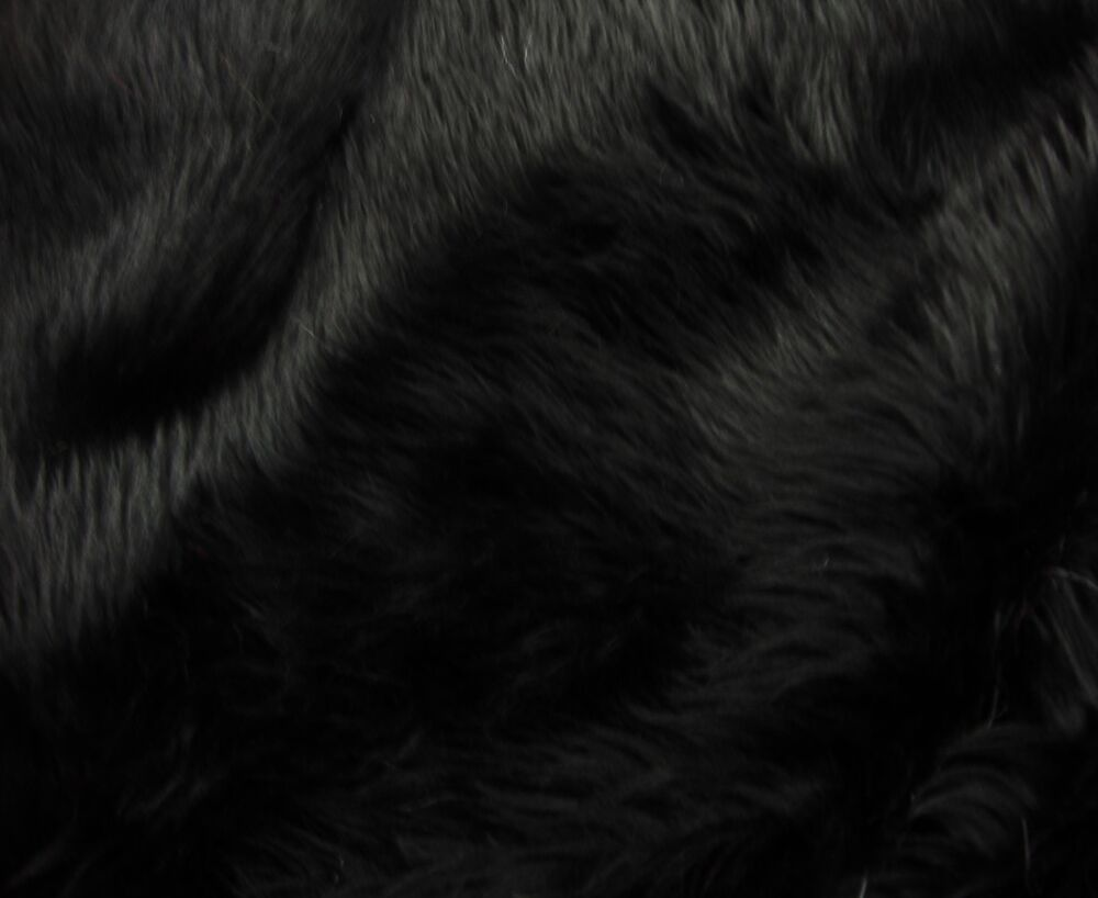 Fur Faux 60 Quot Wide Black Shaggy Long Pile Upholstery Custom