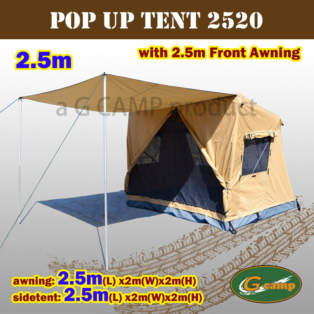 G CAMP 2.5M SIDE TENT FRONT AWNING POP UP ROOF CAMPER
