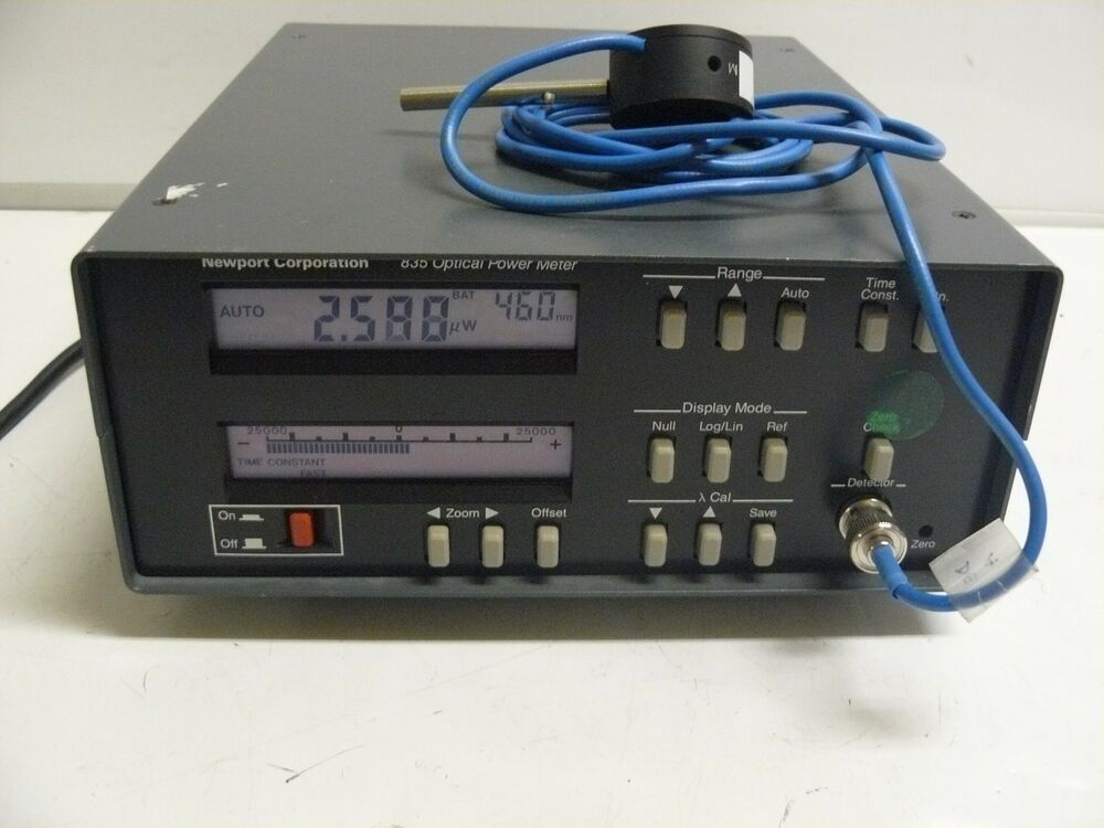 Newport Digital Meter : Newport optical power meter with sl photodiode