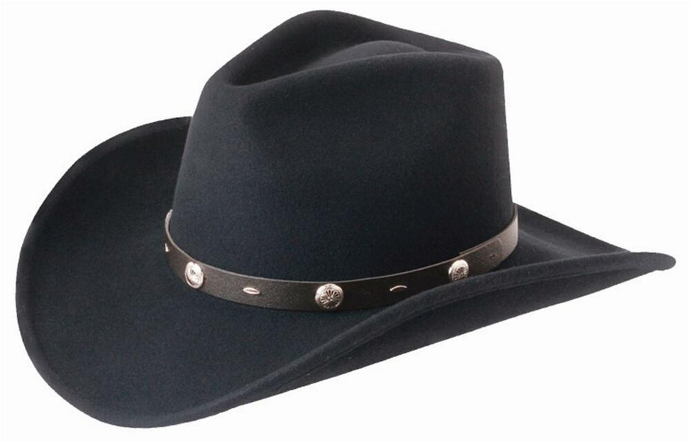 5f0c7e41803 Details about NEW SILVERADO - RATTLER Crushable Wool Western Cowboy Hat  Black MADE in the USA
