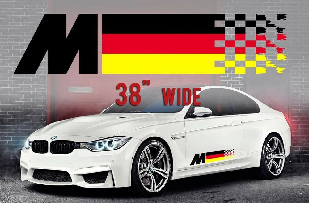 Bmw M2 Series >> BMW German Flag M colors Flag for BMW any models vinyl decal sticker 2 pcs | eBay