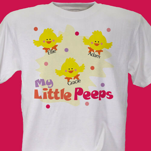 Personalized t shirt for mom or grandma my little peeps for My custom t shirt