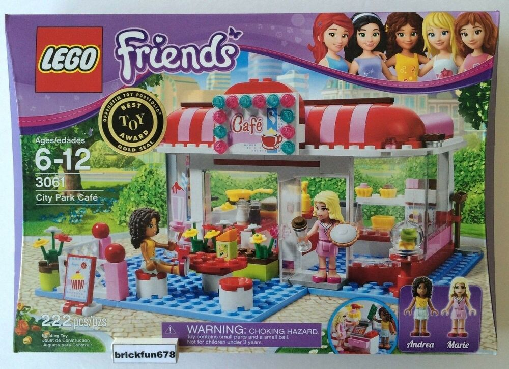 Lego Friends City Park Cafe 3061 New In Factory Sealed Box Ebay