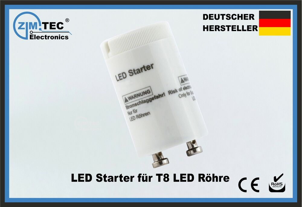 led starter je 1 75 t8 tube berbr cker leuchtstoff r hre sicherung led dummy ebay. Black Bedroom Furniture Sets. Home Design Ideas