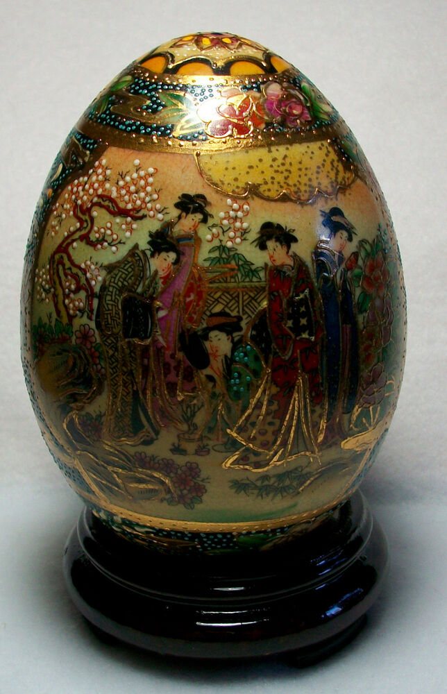 Oriental Hand Painted Eggs