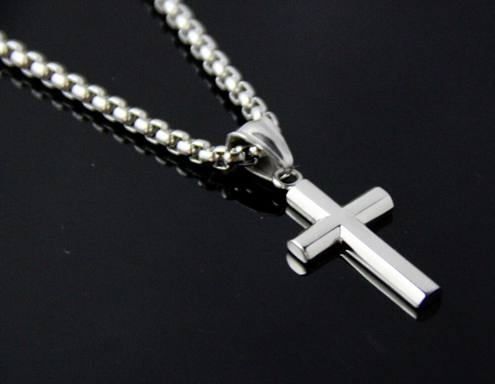 New Women Men Stainless Steel Silver Box Link Chain
