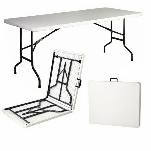 6FT FOOT FOLDING TABLE CATERING CAMPING TRESTLE MARKET