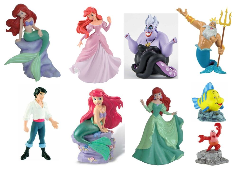 disney little mermaid wedding cake toppers official bullyland disney the mermaid figures toys 13563