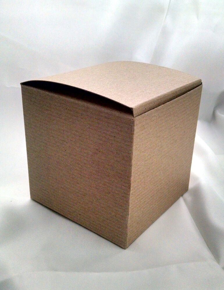 lot of 10 4x4x4 kraft gift retail shipping packaging boxes. Black Bedroom Furniture Sets. Home Design Ideas