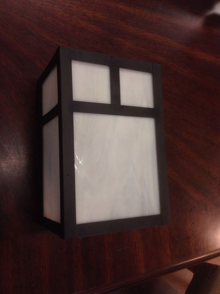 Craftsman Style Outdoor Lighting Made In USA Solid Brass Pocket Wall Sconce eBay