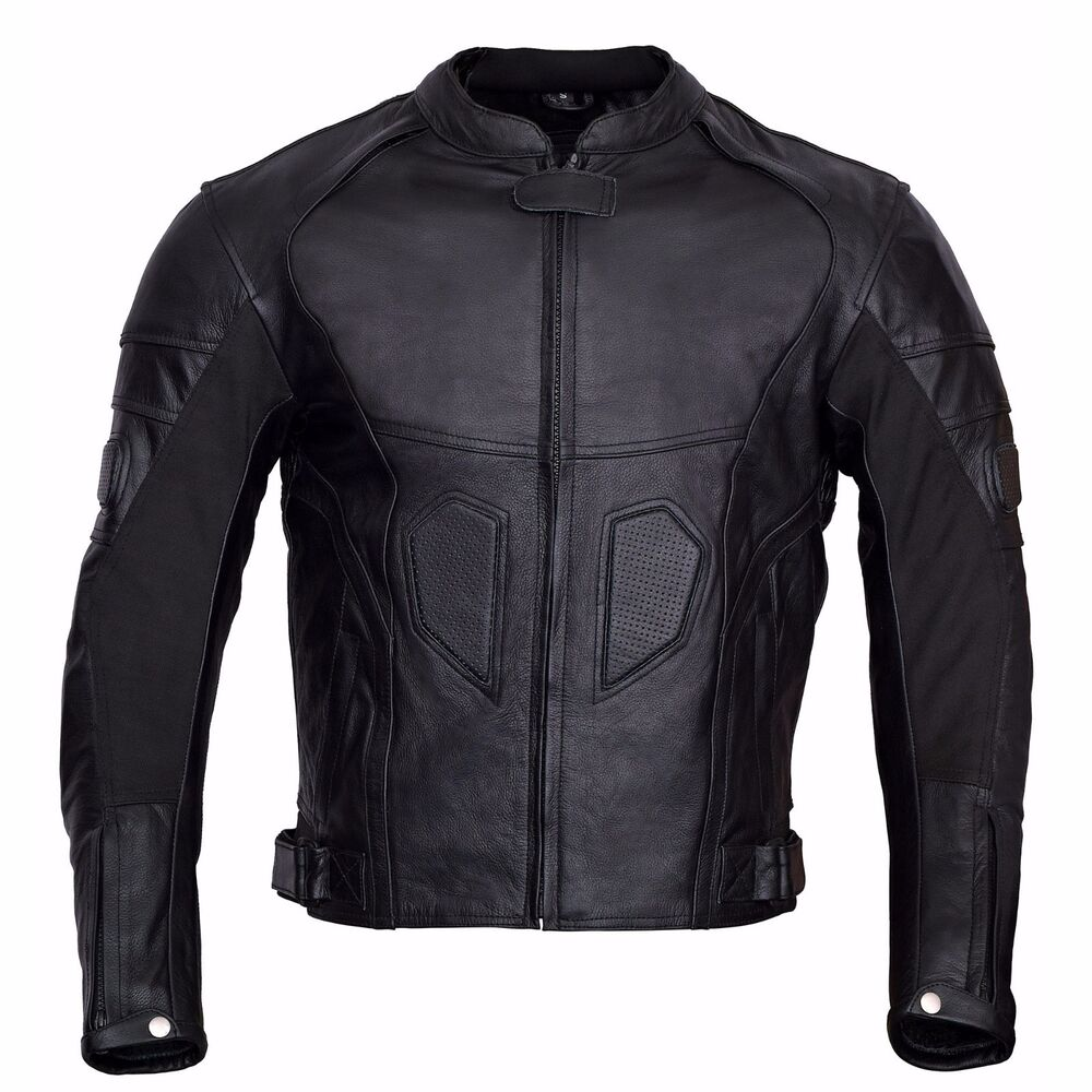 Men Motorcycle Biker Armor Leather Jacket by Xtreemgear ...
