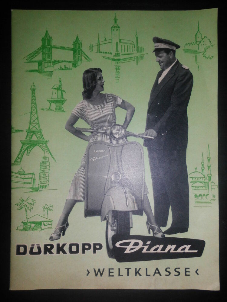 prospekt sales brochure d rkopp motorroller diana scooter roller technisches ebay. Black Bedroom Furniture Sets. Home Design Ideas