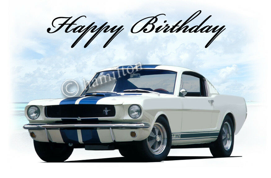 Ford Mustang Gt350 18th 21st 40th 50th Birthday Greetings
