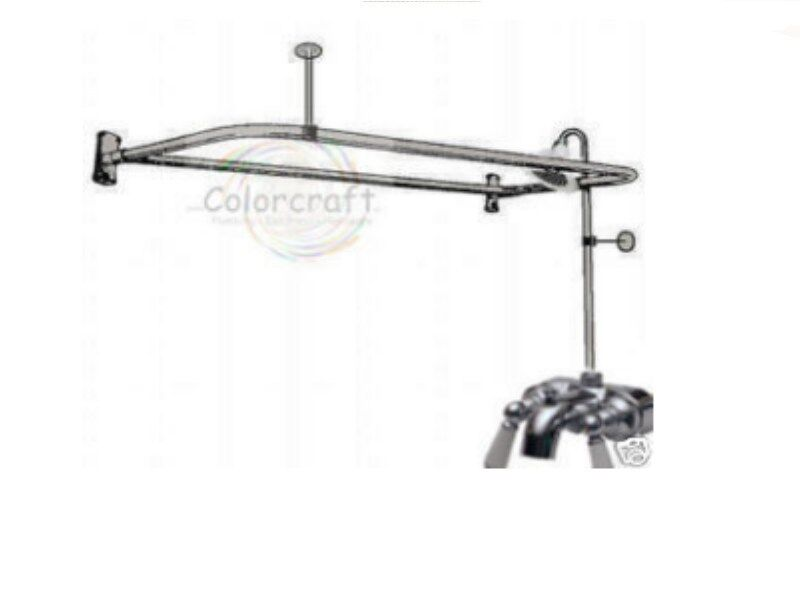 ADD A SHOWER CLAWFOOT FAUCET 4 CLAW FOOT TUB W DRING EBay