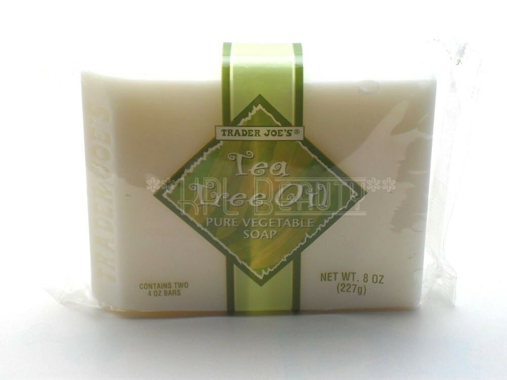 trader joe 39 s tea tree oil pure vegetable body soap wash cleanser 2 bars 8 oz ebay. Black Bedroom Furniture Sets. Home Design Ideas